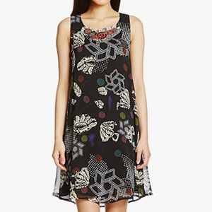 Desigual by C. Lacroix black print swing dress